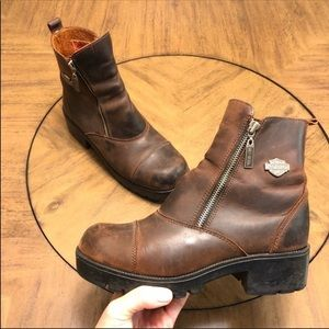 Harley-Davidson leather Amherst motorcycle boots